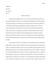 Mobile phones Argument paper_Final (1)