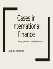 Cases in International Finance.ppt