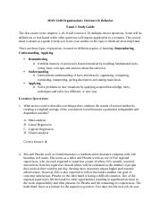 MAN3240 - Exam 1 study guide.docx
