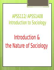 introduction nature of sociology(1)