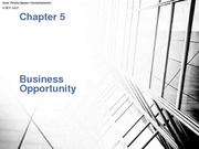Chapter 5 - Business Opportunity