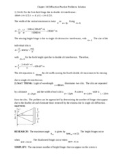 Chapter 34 Diffraction Class Problem solution