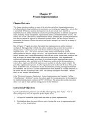 chapter17 - System Implementation