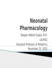 Neonatal Pharmacology Lecture.pptx