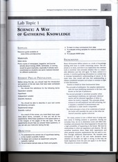 Workbook exercises for Science- A way of Gathering Knowledge lab