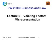 LW2903 Business Law 5(1)