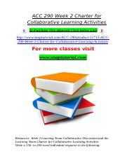 ACC 290 Week 2 Charter for Collaborative Learning Activities.doc
