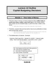 ACCT 226 online lecture #14 filled out (Prof Fergusson) - Capital Budgeting Decisions