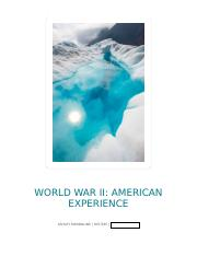 WWII American Experience