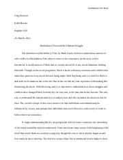 English 2130-Huckleberry Finn Essay