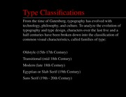 Art history Lecture_Type Classifications