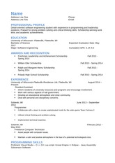 Example Software Engineering Resume