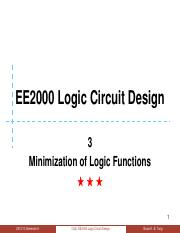 03 Minimization of Logic Functions