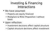 FINA 5311-19 Investing and Financing Interactions-1