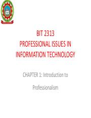 Chapter 1 Introduction to  Profession