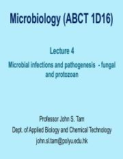 Lecture 4 Fungal protozoan Infections