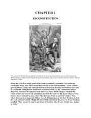 Chapter 1 - Reconstruction