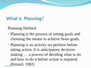 lecture 3  The Planning  and Decision-making function.ppt