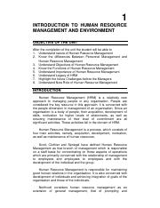 Human Res. Management - M. Com - I