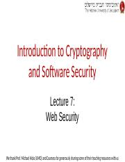 Lecture 7 -- Web Security