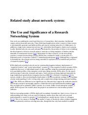 Related-Study-about-Network-System.docx