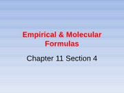 Empirical & Molecular Formulas part 1