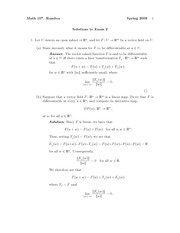 Exam 2 Solution Fall 2009 on Vector Calculus