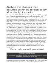 Analyse the changes that occurred within US foreign policy after the 9