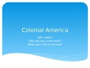 Am History Colonial life presentation