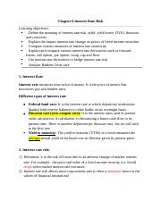 FIN335_Chapter 6_Interest Rate Risk1.docx