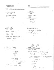 Sum-Difference and Double-Half Identities - Pre-Calculus ...