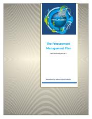 ASSIGNMENT 2 - The Procurement Management Plan_Joseph Faizal Pinheiro.docx