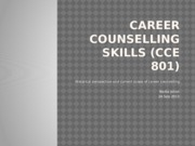 History and Future of Career Counselling