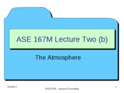 ASE 167M - Lecture 5