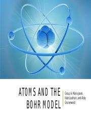 Group 6 Atoms and the Bohr Model.pptx