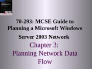 Planning A Microsoft Windows Server 2003 Network Chapter 03