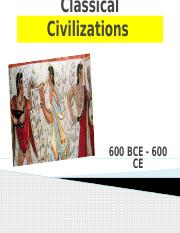 Classical Civilizations - Persian and Greece -