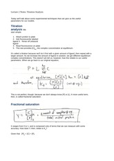 Lecture 2 Notes Titration Analysis