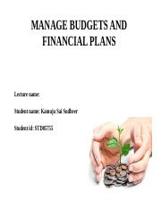 MANAGE BUDGETS AND FINANCIAL PLANS ppt.ppt