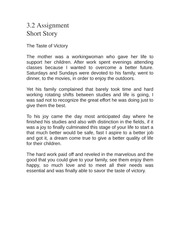 3.2 Assignment Short Story
