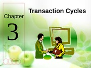 Chapter 3 - Part I (Revenue Cycle)