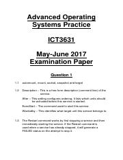 ICT3631 May-June 2017 Examination (Self-Made Memorandum).pdf