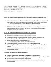 CHAPTER 7dat - COMPETITIVE ADVANTAGE AND BUSINESS PROCESSES