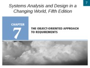 Chapter 7- The Object-Oriented Approach to Requirements