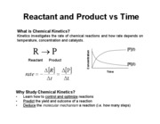 Lecture 4 - Chemical Kinetics