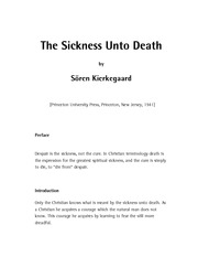 TheSicknessUntoDeath