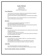 Example of JROTC in Resume