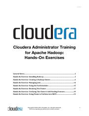 Cloudera Administrator Exercise Instructions
