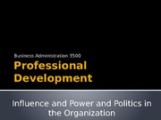 Lecture 4-7-15 Power and Politics