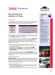 Case Sudy 2 Recruitment and Selection at Tesco